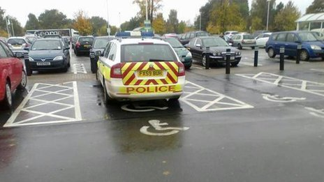 Lazy police disabled parking